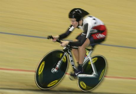 Champion cyclist Sarah Hammer